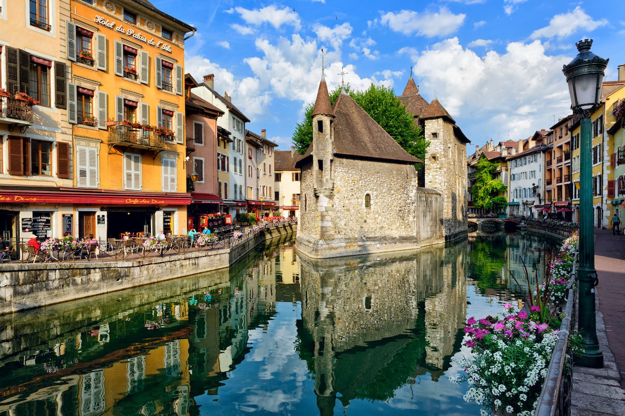 Annecy, France canal