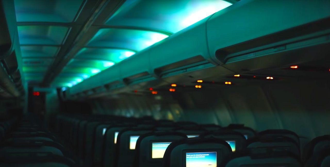Aurora lights in Icelandair