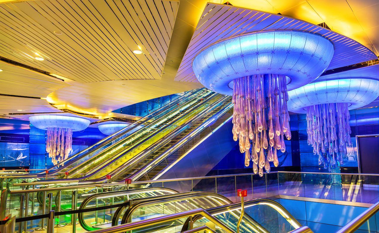BurJuman metro station UAE