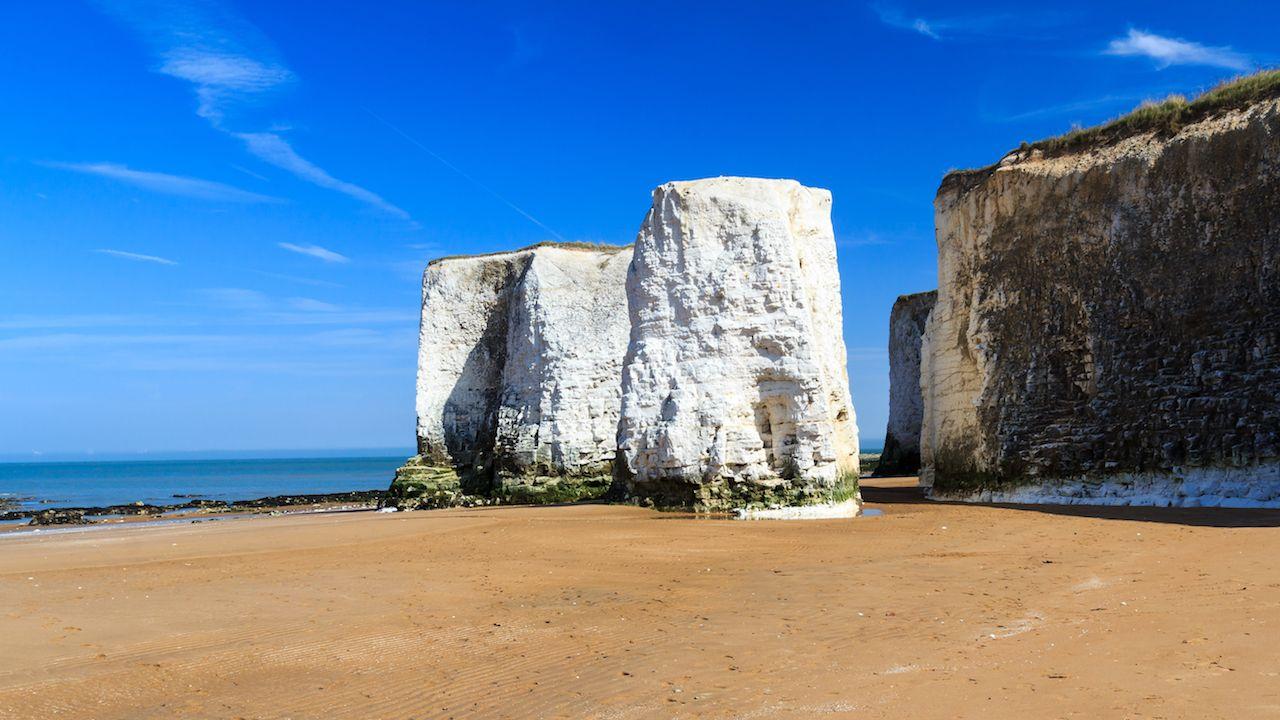 Chalk Cliffs at Botany Bay beach