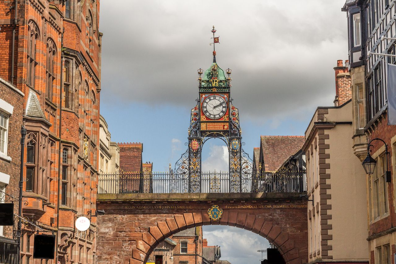 Eastgate clock in Chester, England