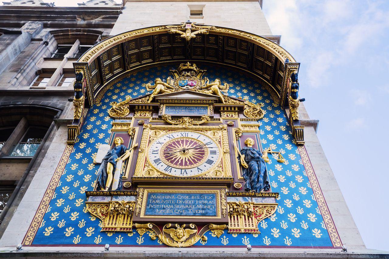 Clock at the Conciergerie in Paris, France