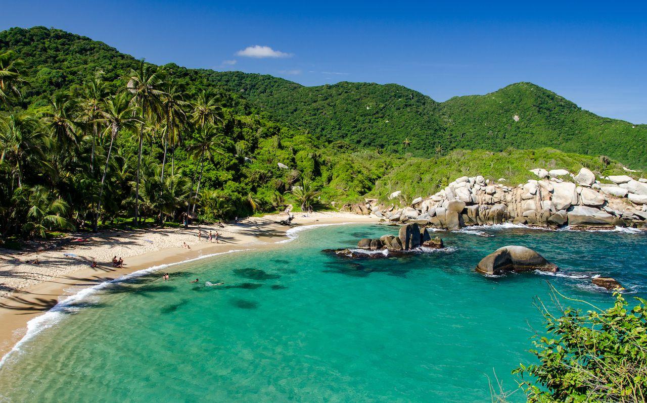 Colombian beach Tayrona NP