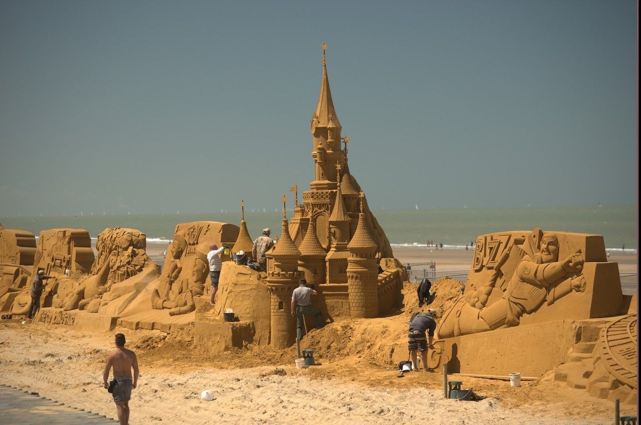 Disney sand sculpture 5