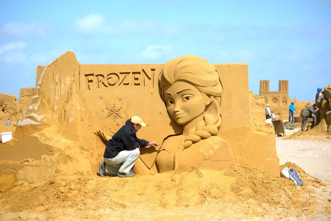 Disney sand sculpture