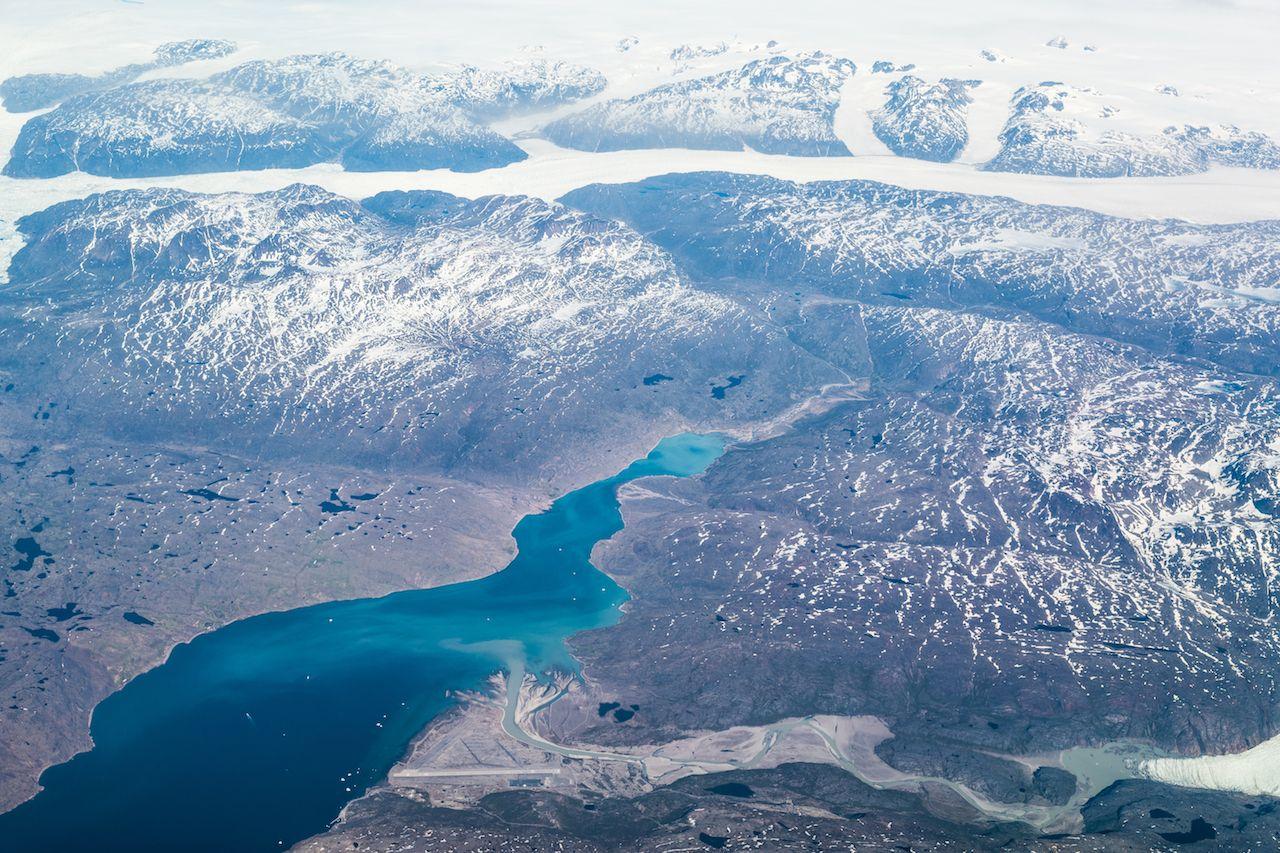 Greenland aerial view (Narsarsuaq Airport)