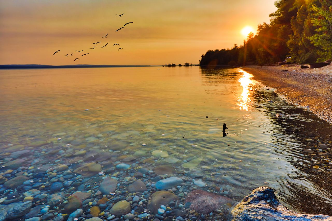 Lake Michigan at sunrise