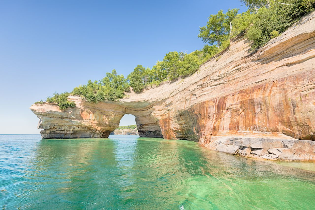 Lovers Leap in Pictured Rocks National Lakshore