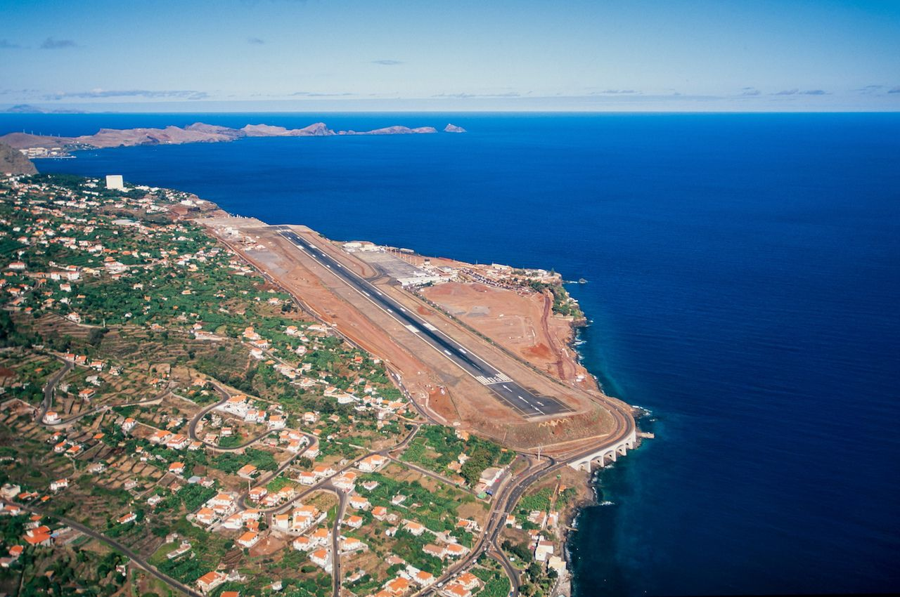 Madeira Airport aerial view