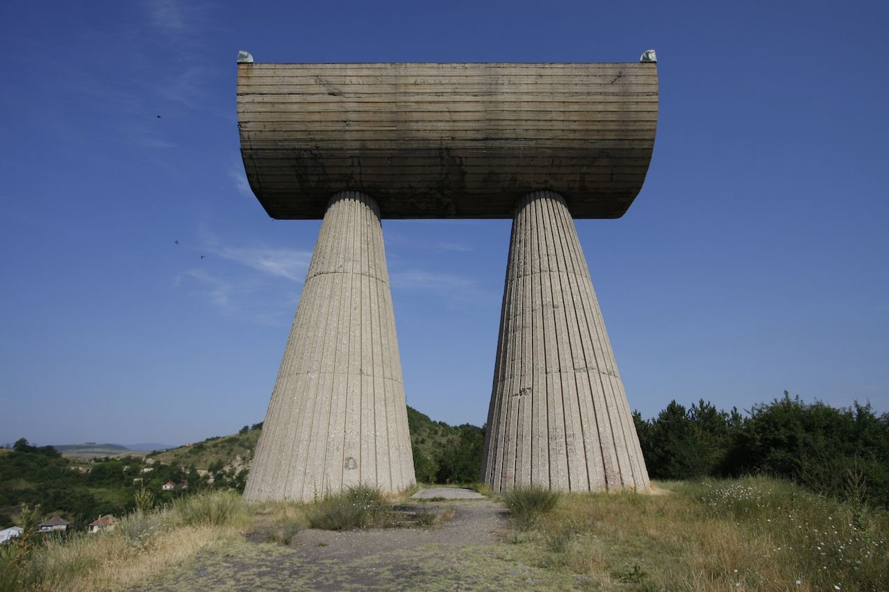 Miner's Monument in Kosovo