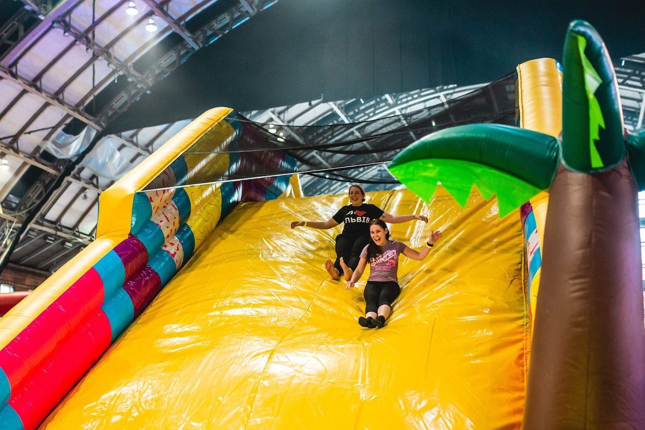 Monster Obstacle Course Slide