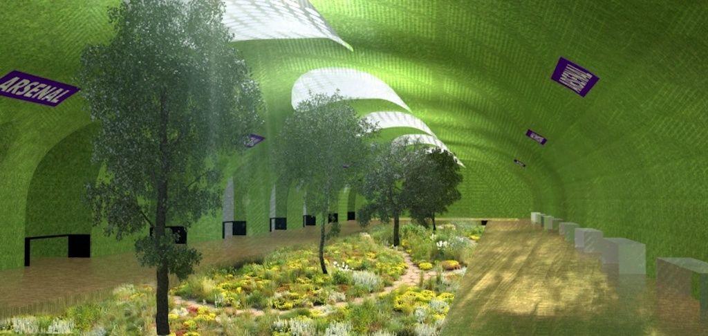 Paris metro makeover underground garden