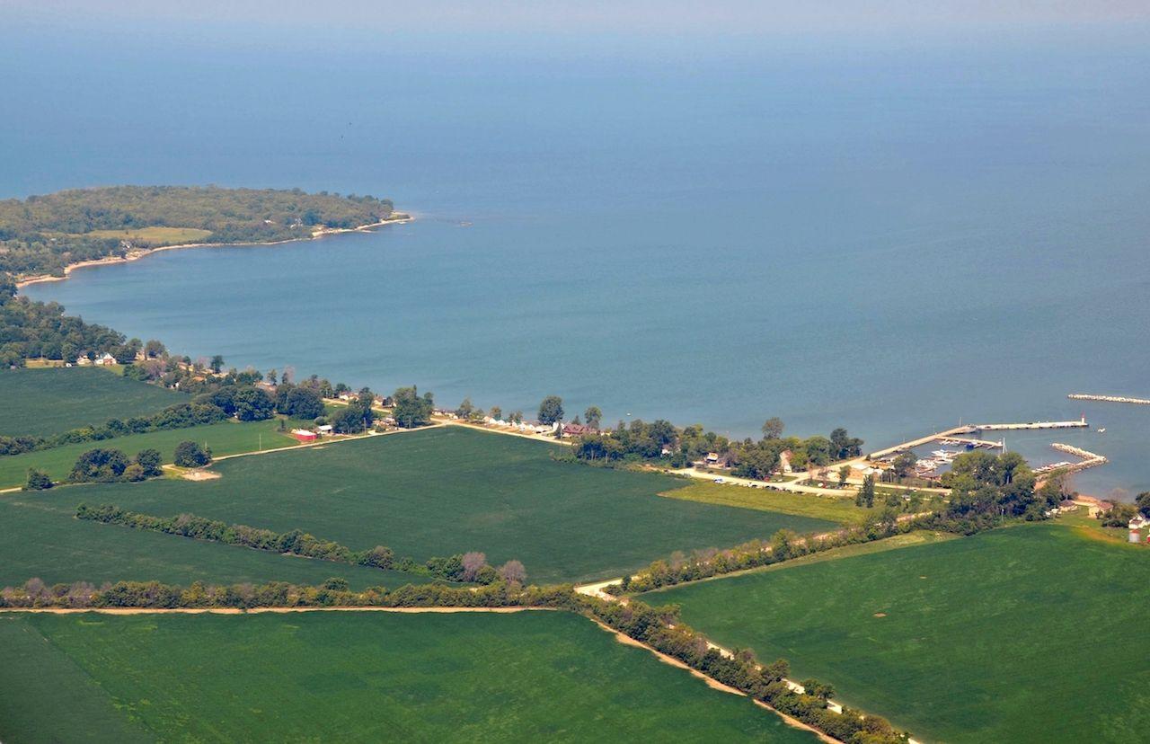 Pelee Island, Ontario aerial view