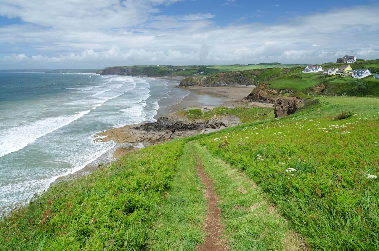 Pembrokeshire Coast Path, Pembrokeshire, Wales, UK