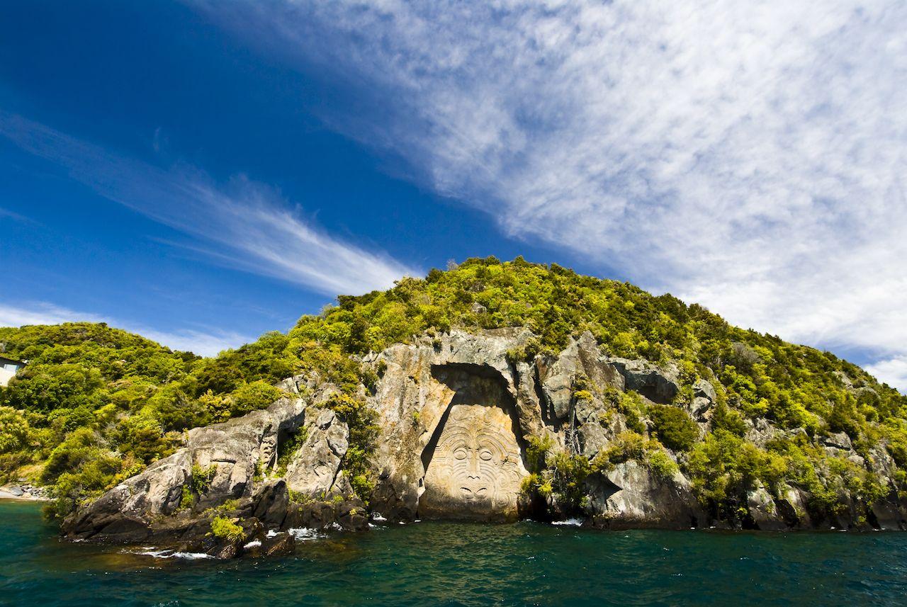 Petroglyph in NZ