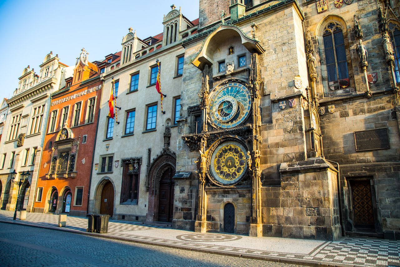 Prague Astronomical Clock wide view