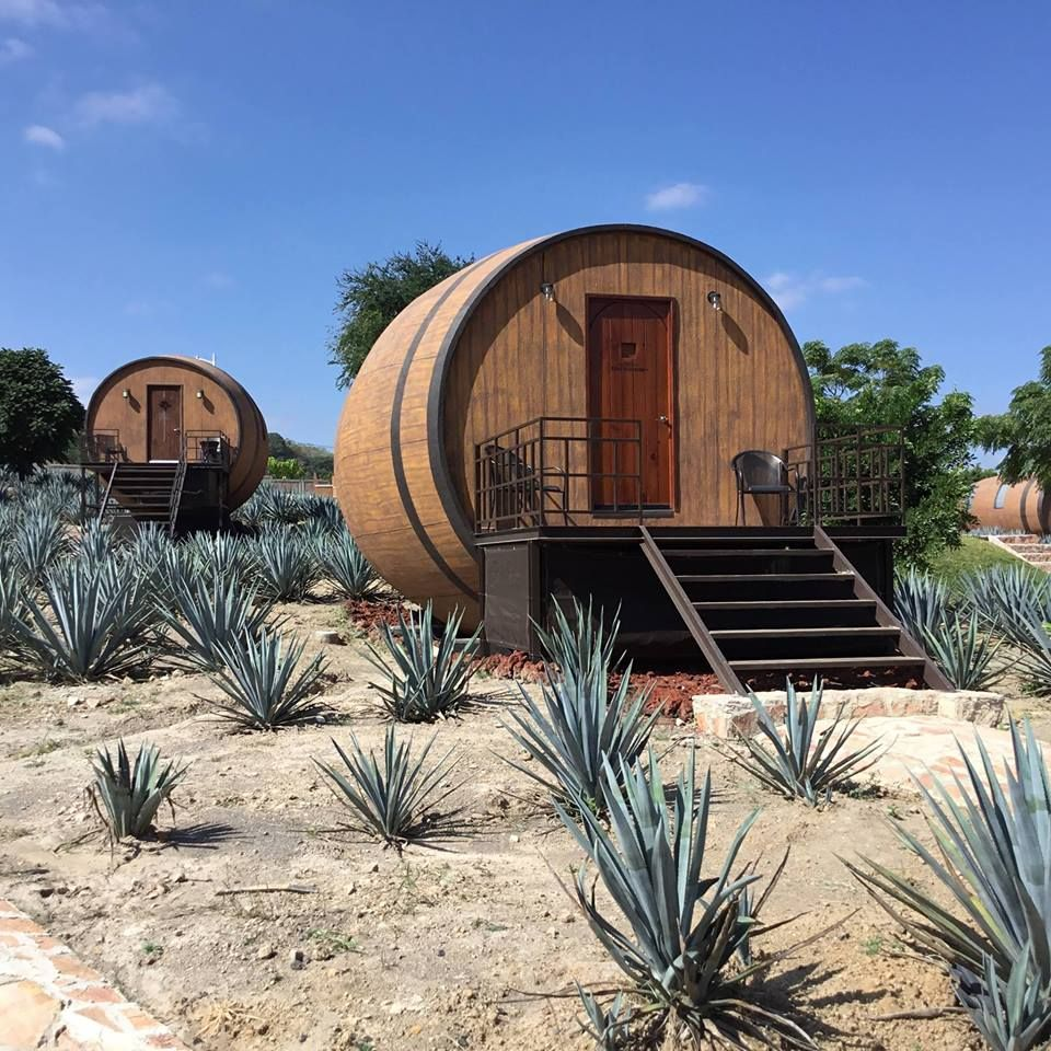Tequila barrel hotel room