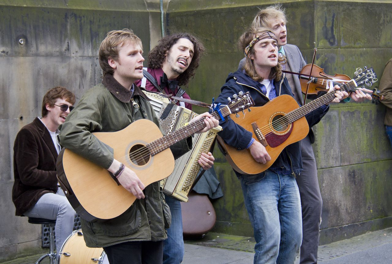 The Buffalo Skinners rock band play at the Edinburgh Festival Fringe