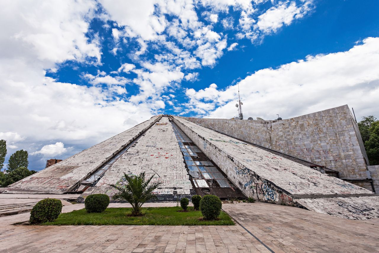 The Pyramid of Tirana, Albania