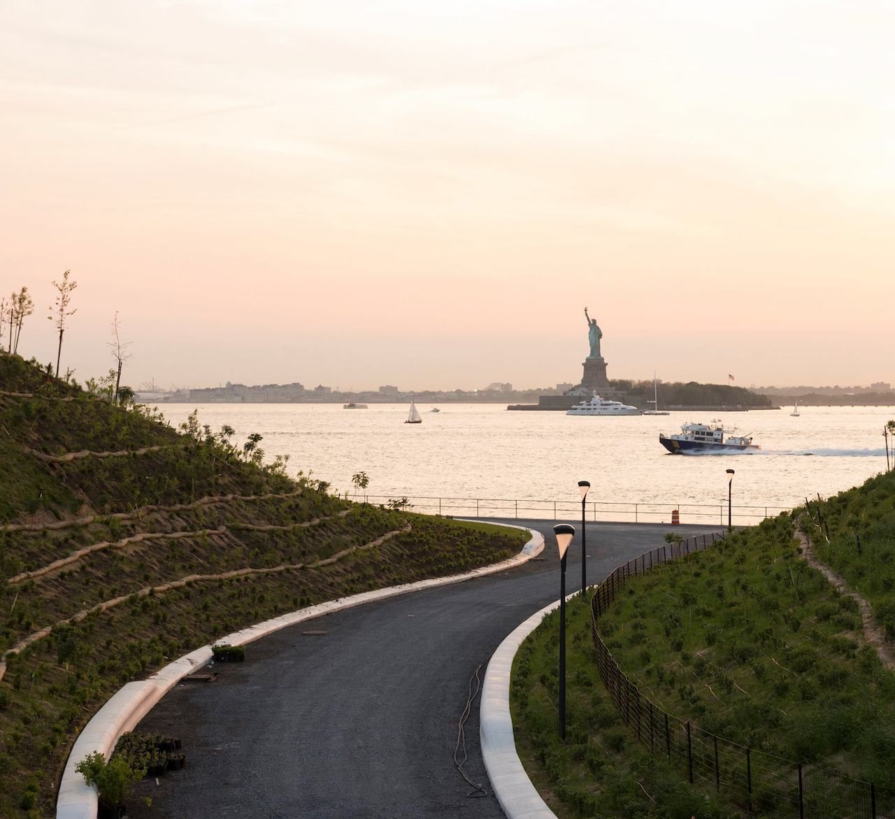 View of Statue of Liberty from Collective Governors Island