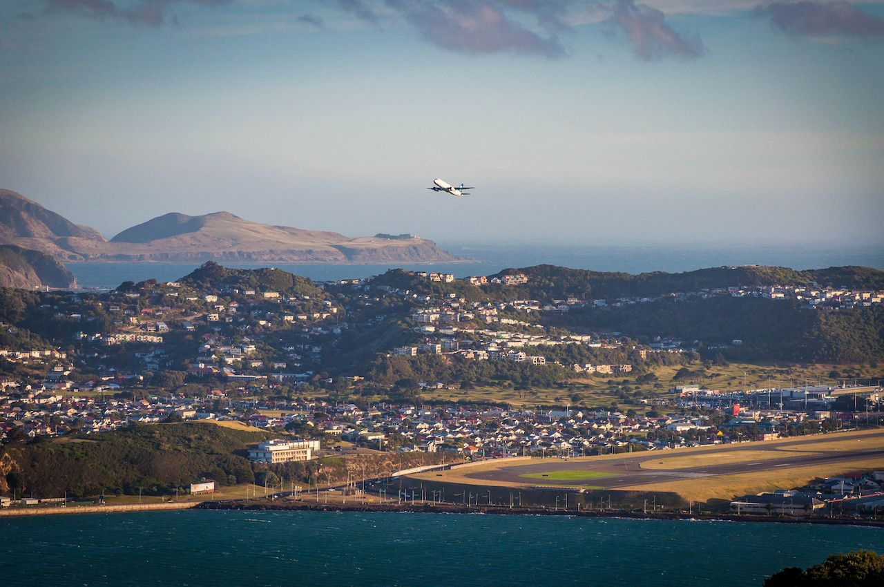 Wellington Airport panorama