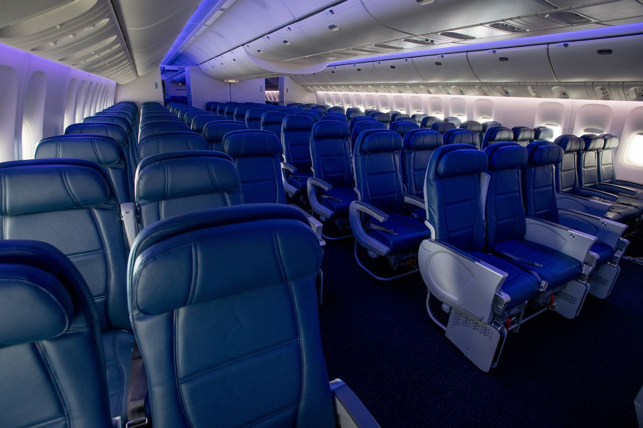 Wider economy seats on Delta Airlines