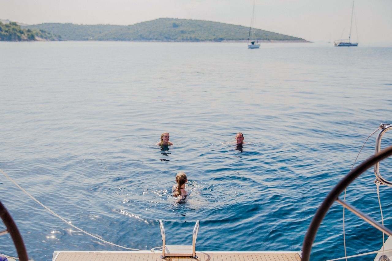 Yacht Week Croatia swimmers