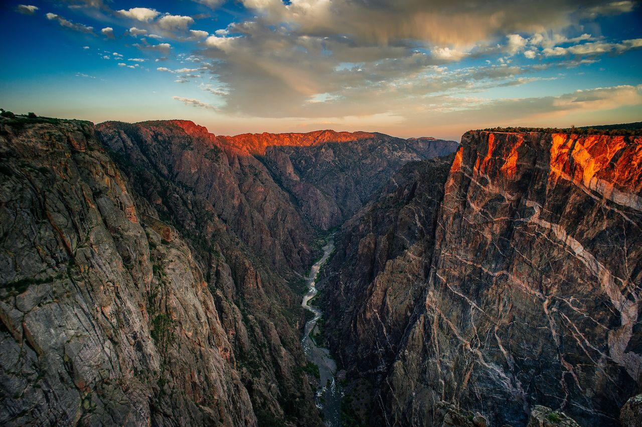 dramatic Colorado gorge