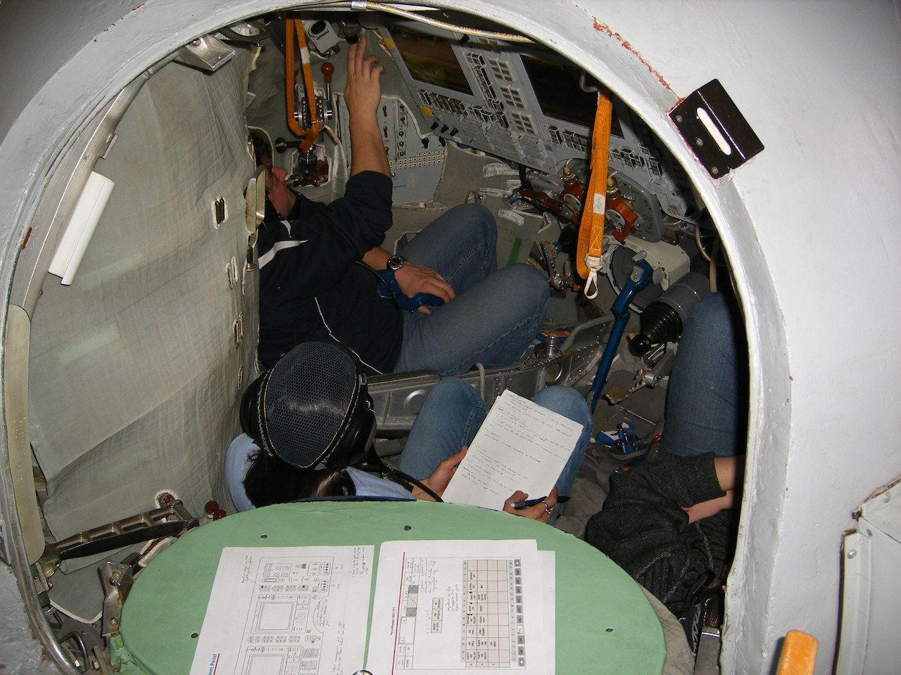 A look inside a Soyuz decent capsule