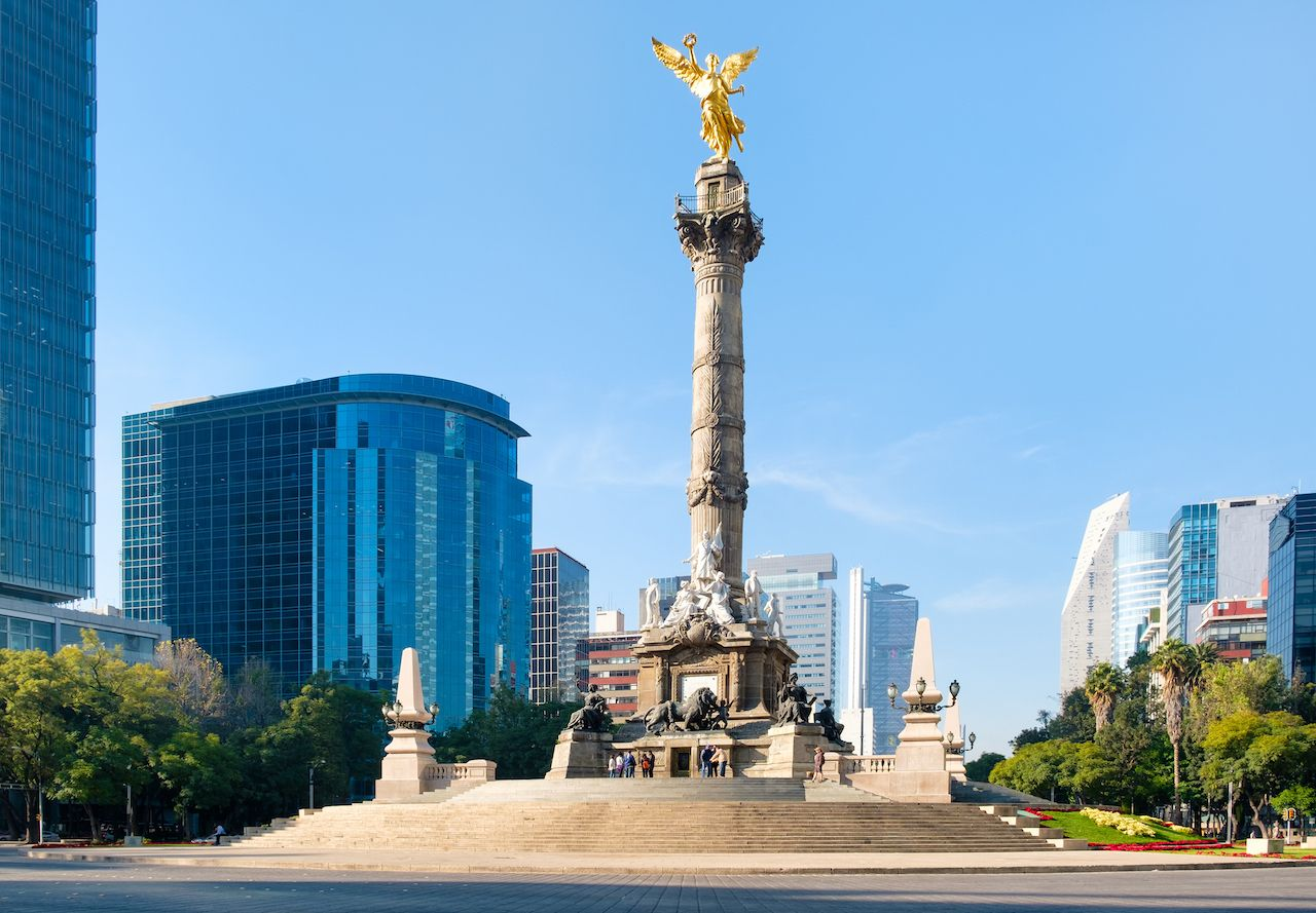 Angel of Independence in Paseo de La Reforma in Mexico City