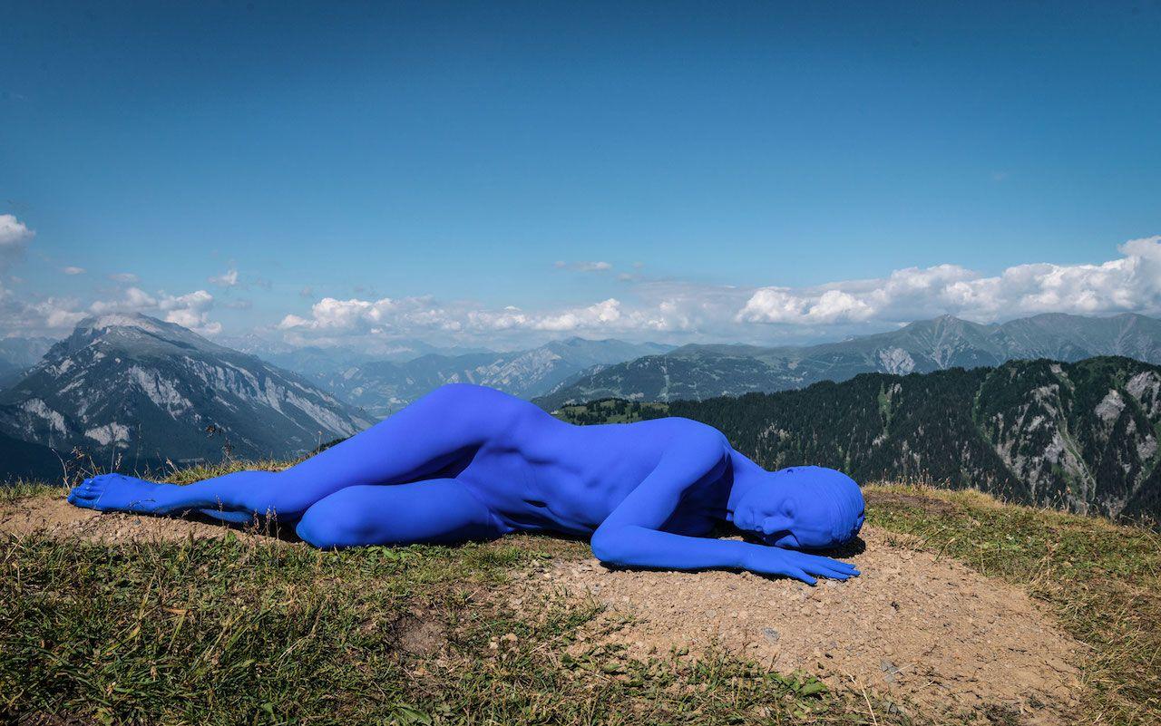Swiss Alps art installation