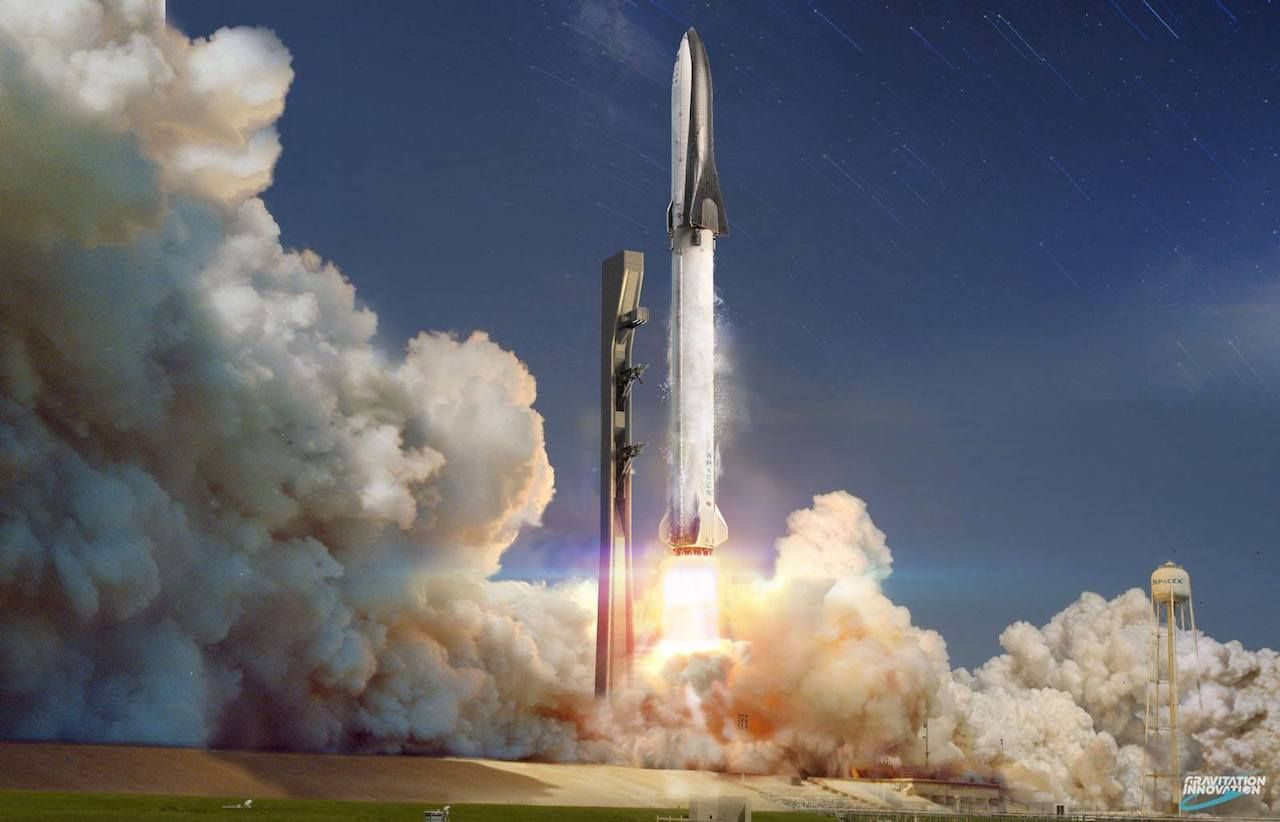BFR artwork, SpaceX