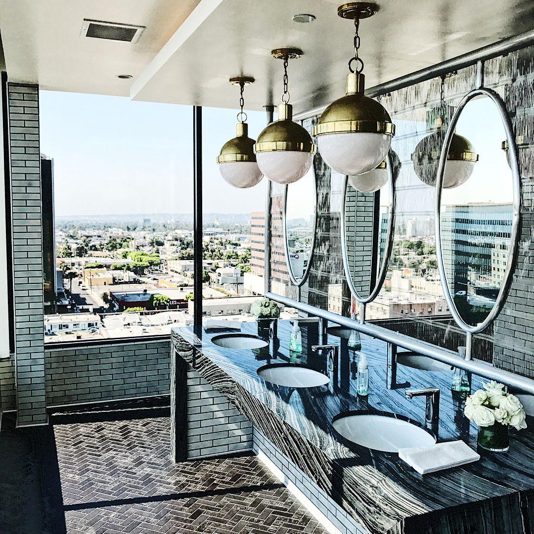 Bathroom in Dream Hotel in Hollywood Los Angeles