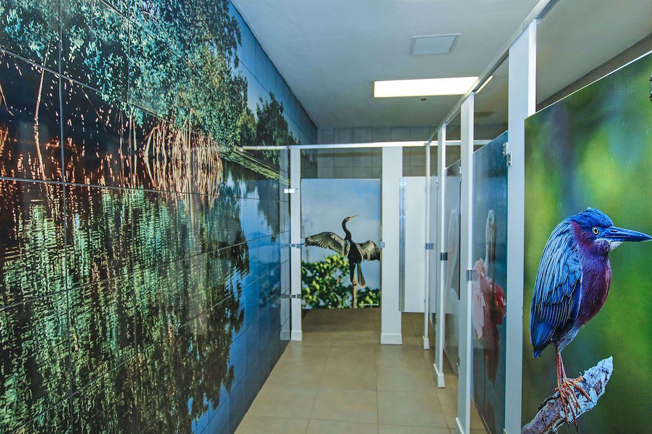 "Bathroom in J.N. ""Ding"" Darling National Wildlife Refuge in Florida"