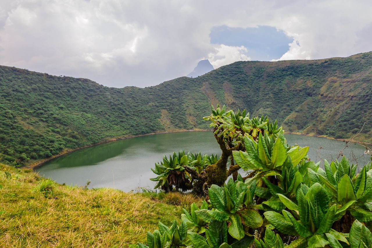 Bisoke crater lake, Volcanoes National Park, Rwanda