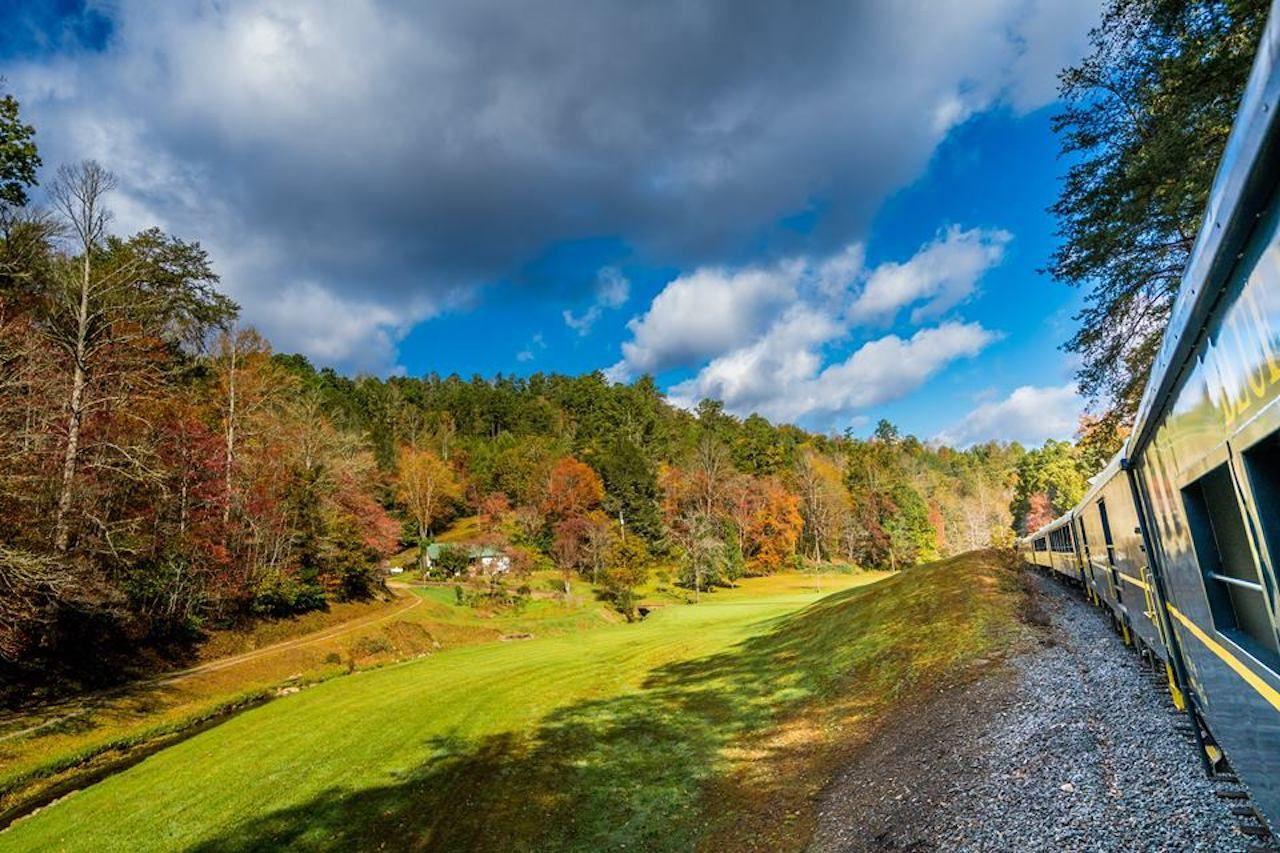 Blue Ridge Scenic Railway train view