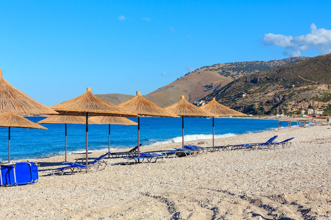 Borsh beach in Albania
