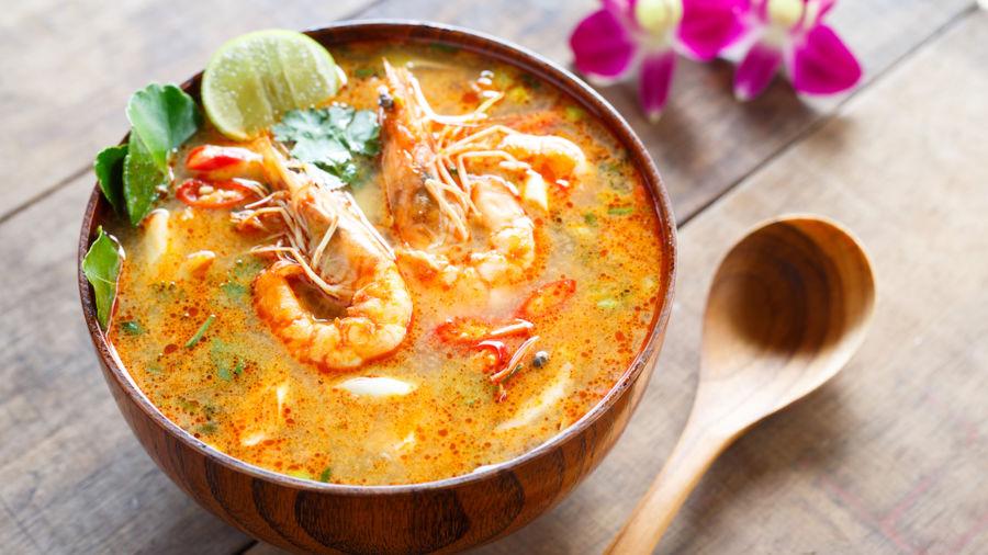 Bowl of Thai soup