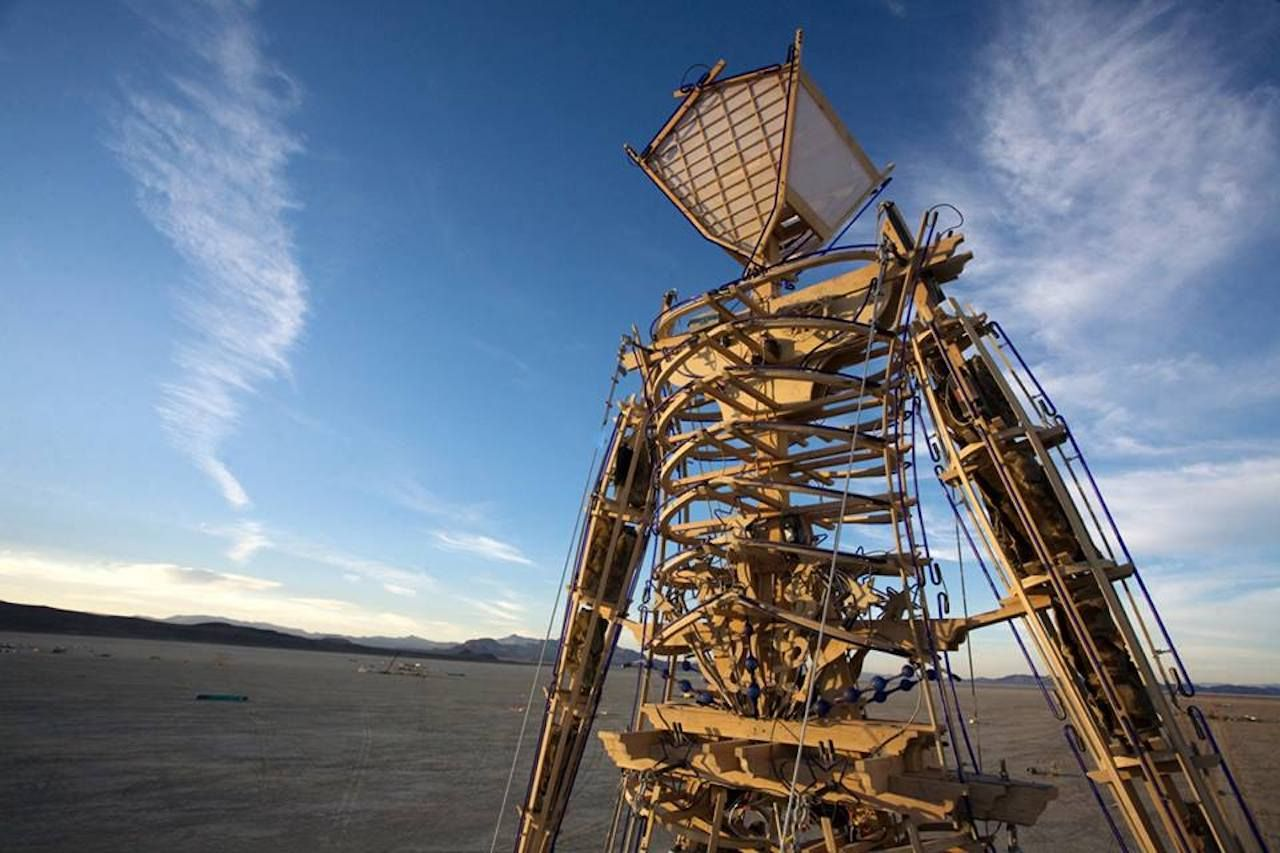 Burning Man effigy