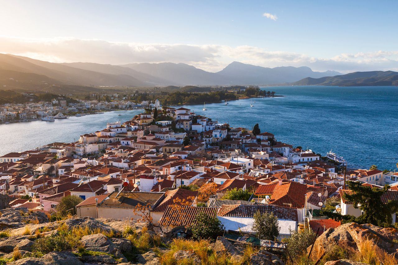 Chora village of Poros island