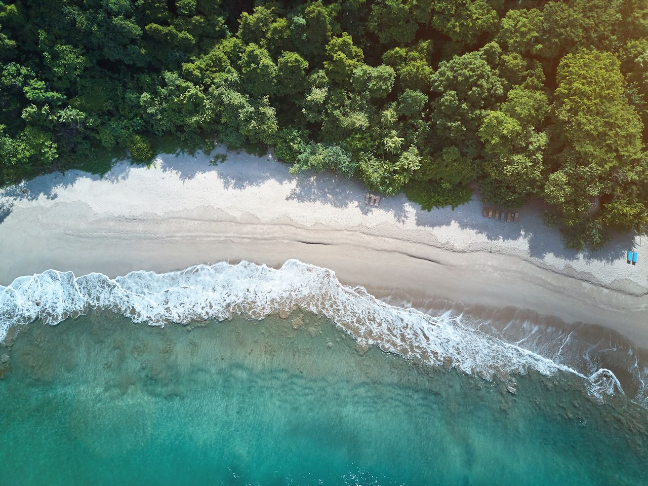 Clean beach in Nicaragua