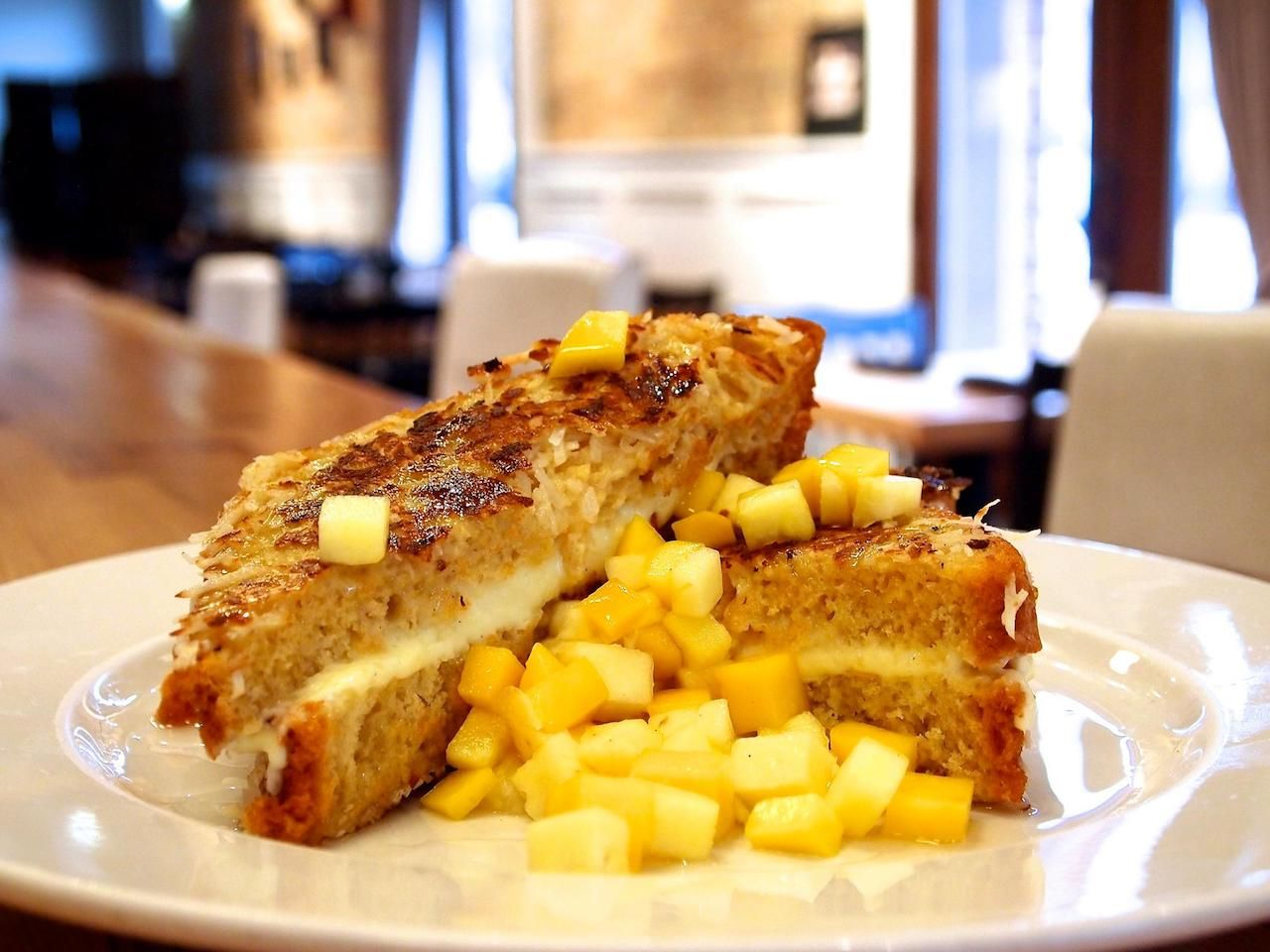 Coconut cheesecake stuffed french toast at Nana in Chicago