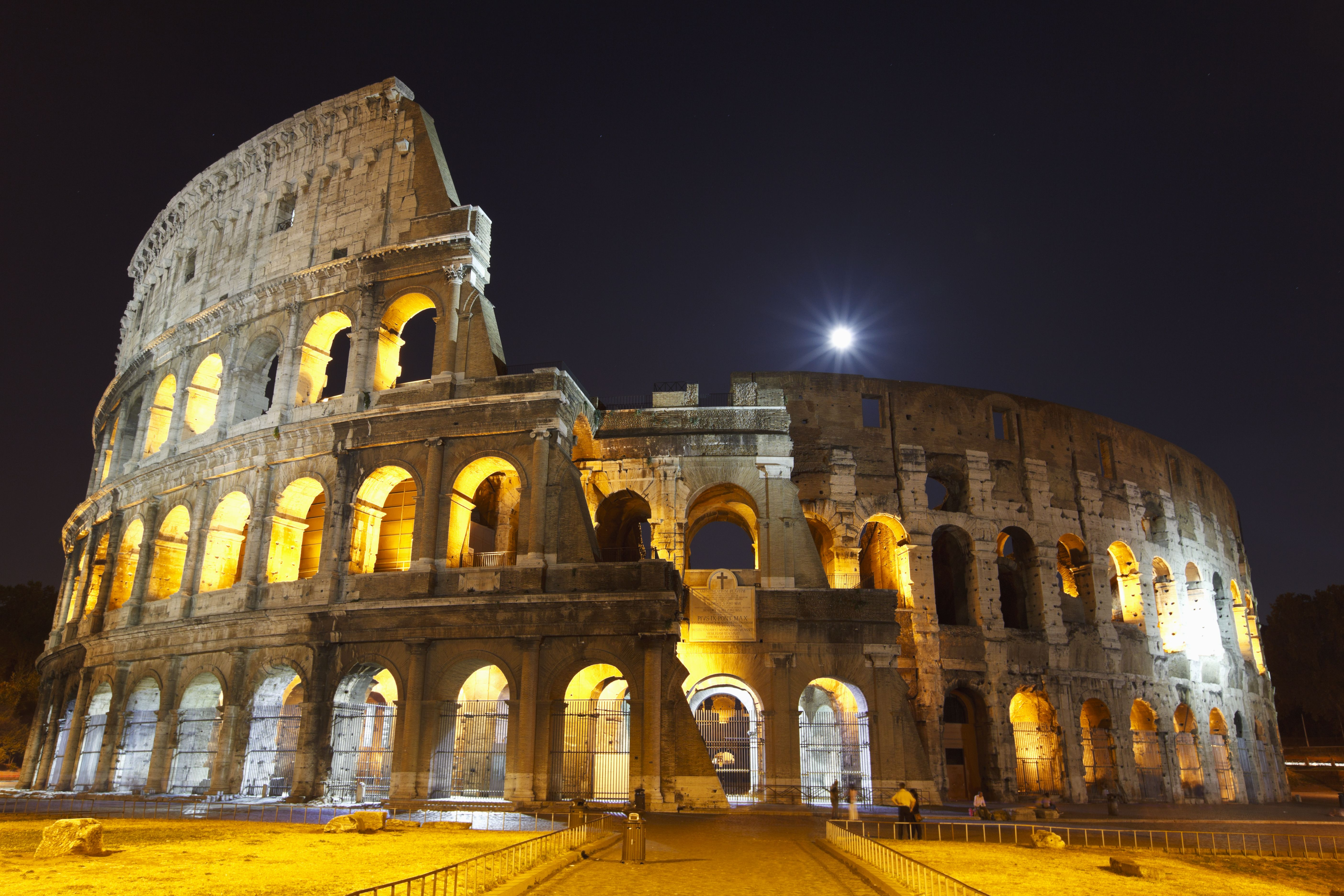 Tour the Colosseum after dark