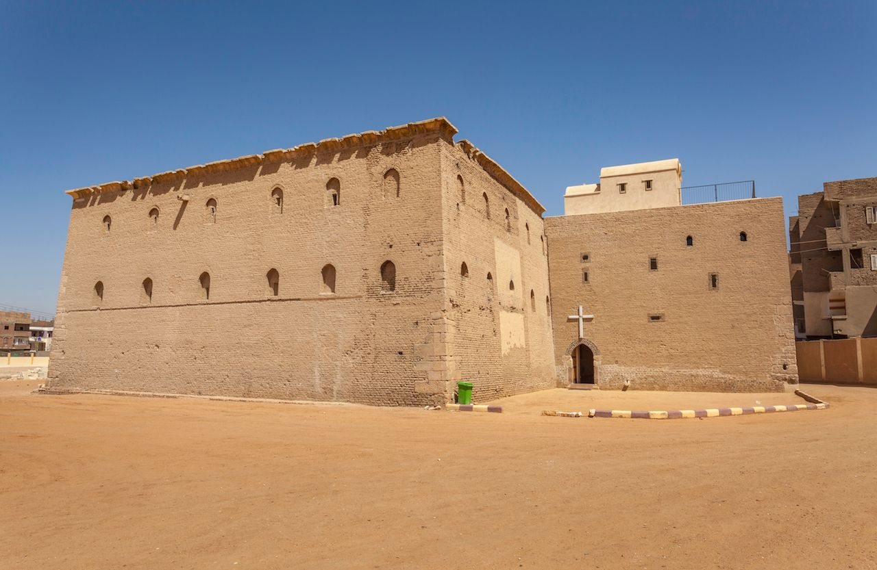 Coptic Red monastery at Sohag, Egypt