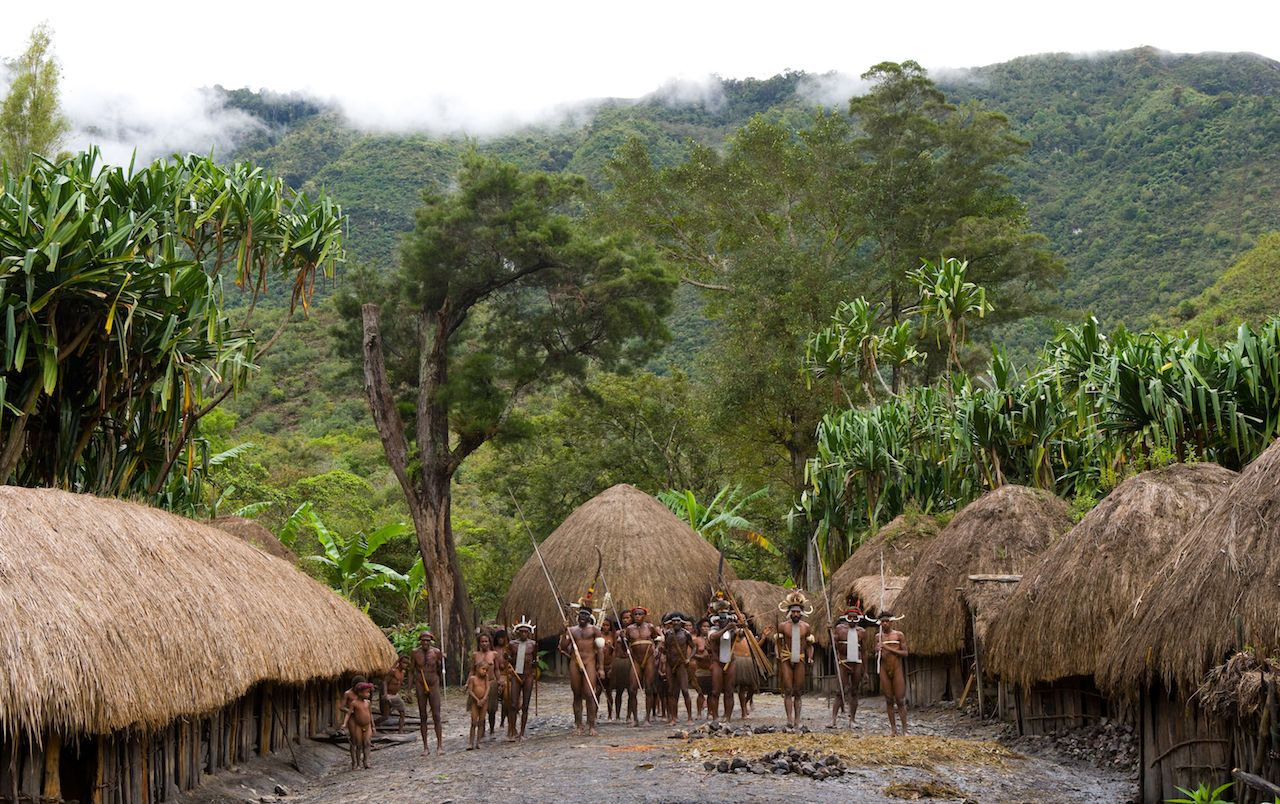 Dani tribe in New Guinea, Indonesia