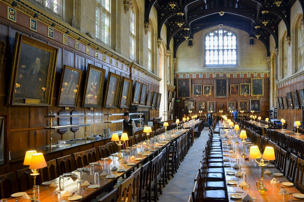 Dining Hall Christchurch College Oxford University