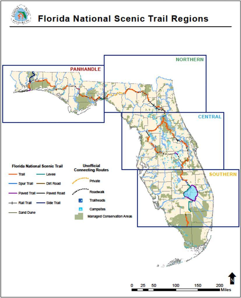 Florida National Scenic Trail regions