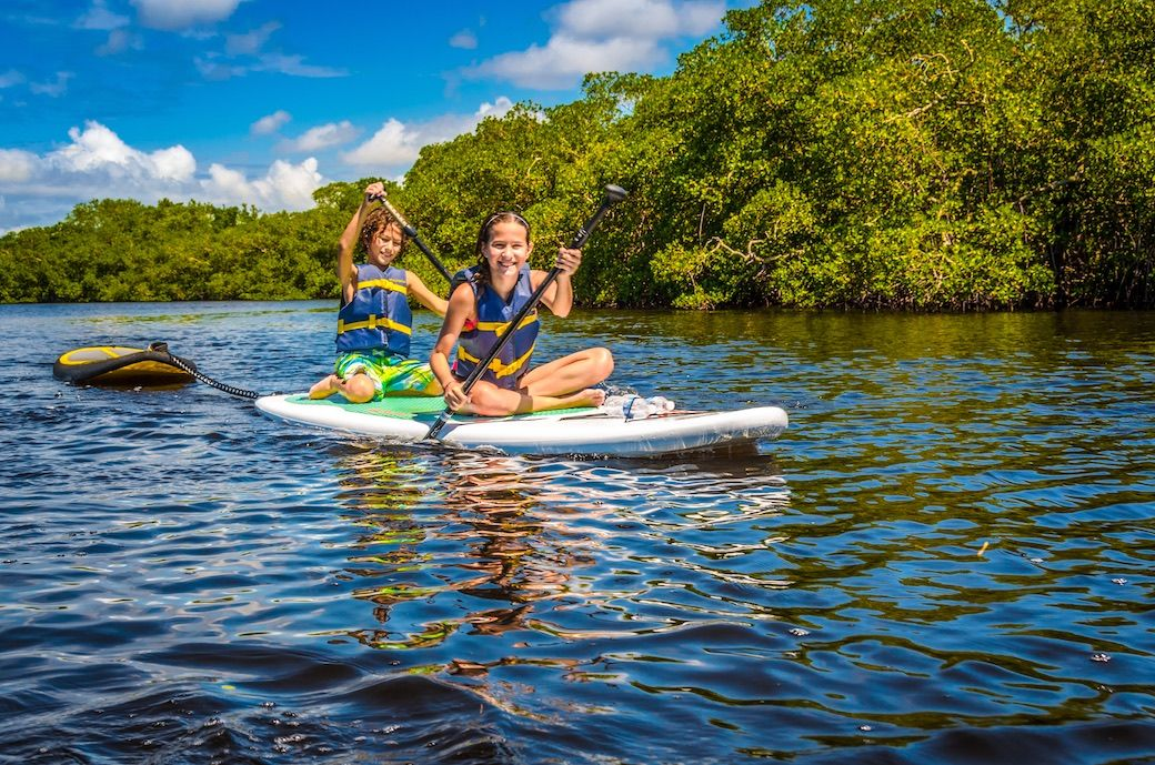 Fort Myers Sanibel Florida paddleboard kids