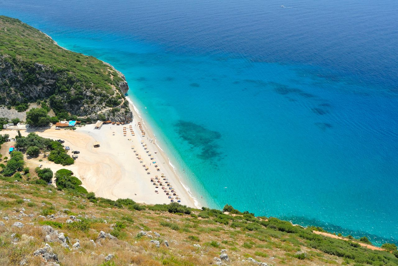 Gjipe beach in Albania