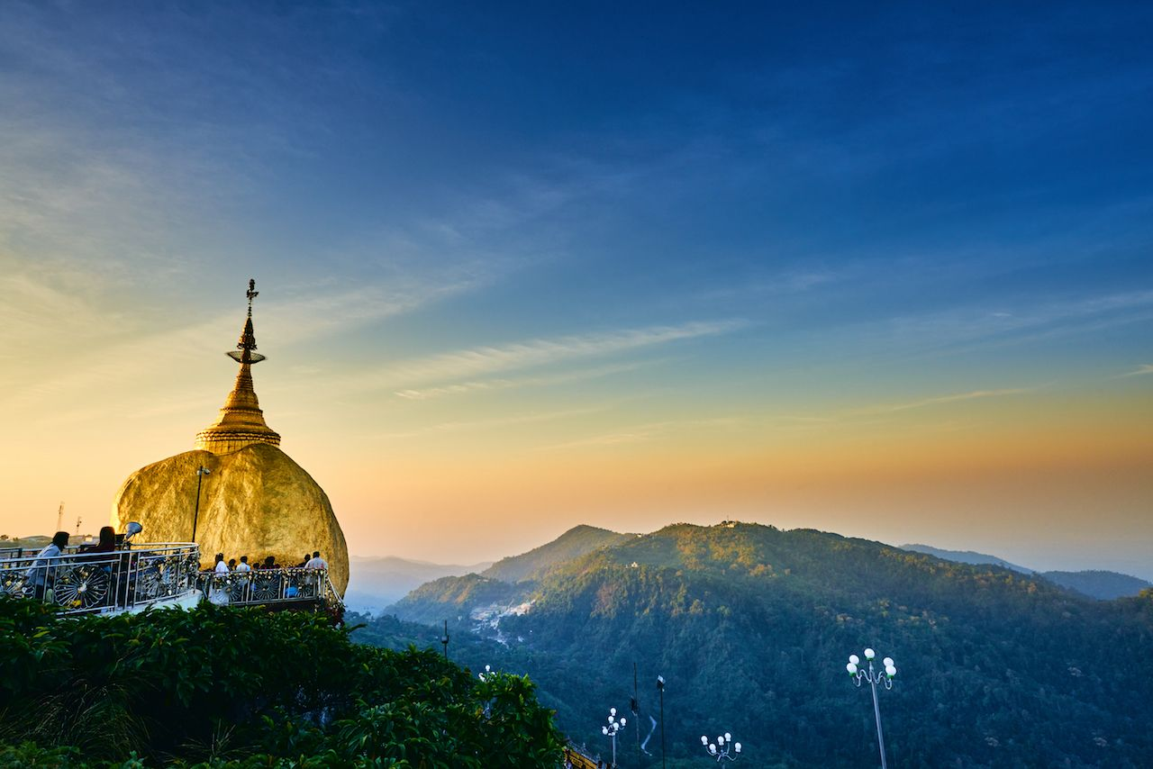 Golden Rock Pagoda at Mt. Kyaiktiyo, Myanmar
